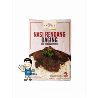 Family Food Nasi Rendang Daging Sapi- Beef Rendang With Rice 350 gr