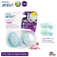 Philips Avent Ultra Air Night Empeng Bayi Soother Night Time 0-6 Month