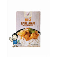 Family Food Nasi Kare Ayam- Chicken Curry With Rice 350 gr