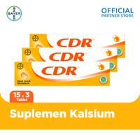 CDR Suplemen Kalsium Rasa Jeruk 15 Tablet x 3 unit