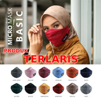 Masker Hijab / Masker Kain dari Hijacket (Warna Random) - MAROON