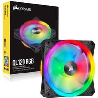 Corsair iCUE QL120 RGB 120mm PWM Single Fan - Black