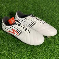Sepatu bola specs original Barricada LEA FG white black red new 2019