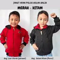 Jaket Anak Parasut Polos Bolak Balik | Varian Warna | Best Seller