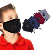 soft comfort Valve masker anak kn95 kain katun kapas filter karbon n99