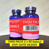 Wellness Natural Vitamin E Water Soluble 400 IU - 60 kapsul - BPOM