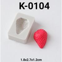K-0104 Cetakan silikon puding coklat fondant buah strawberry stroberi