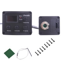 Pickup Preamp Ukulele 3 Band EQ Equalizer Tuner System LCD Display