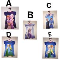 Dress Anak Frozen / bahan scuba / best seller - S