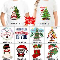 Kaos / Baju NATAL DEWASA CHRISTMAS BANYAK MOTIF (FREE NAMA) 1-50