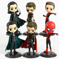 Action figure Thor spiderman Qposket Avengers topper kue koleksi