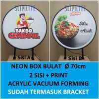 Neon Box Bulat 2 Sisi / Capsule Light RF80VF-2s 70cm + Printing