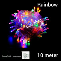 lampu Natal/ lampu hias natal /lampu tumbler warna warni rainbow