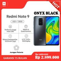 Xiaomi Redmi Note 9 Smartphone - Onyx Black [128 GB/6 GB/ Hitam]