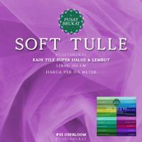 SOFT TULLE 3/3 - KAIN TILE TULE POLOS HALUS & LEMBUT [harga per 0.5m] - 27 AQUA