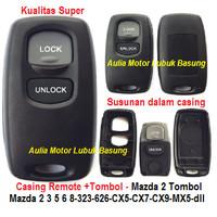 casing remote 2 tombol mazda 2 3 5 6 8 323 626 cx5 cx7 cx9 mx5 dll