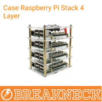 Case Raspberry Pi Stack 4 Layer