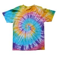 Tie Dye T-shirt Spiral Rainbow - XS