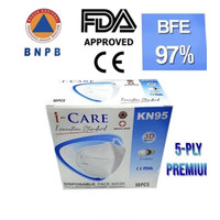 Masker KN95 5ply i-Care 3D disposable mask
