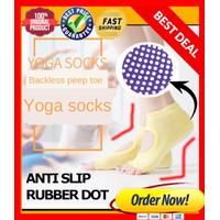 Open Finger Kaos Kaki Yoga Sock Pilates Antislip Socks Jari Terbuka