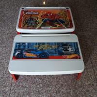 Meja belajar lipat plastik anak spiderman/ lap desk napolly
