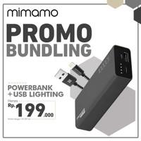MIMAMO Powerbank 10000mAh + Cable Data USB Lightning Fast Charging