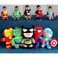 Boneka Superhero Avengers Batman Captain America Hulk Iron Man Yelvo