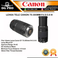 CANON 75-300MM F4.5-5.6 III - LENSA FOR EOS 1300D,EOS 750D,EOS 80D DLL