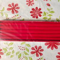 Kotak Nampan Display Pajangan Cincin Ukuran 10x35 cm Red Bludru