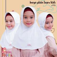 Jilbab sekolah putih 2-6th | Miulan bpl kids M | white/broken white