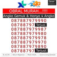 Kartu Perdana Nomor Cantik XL 4G Kuartet 8888 33 22