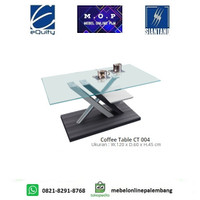 Coffee Table CT 004 Siantano / Meja Tamu Kaca Minimalis / Meja Kopi