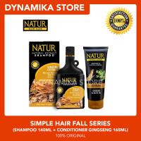 Natur Simple Hair Fall Series (Gingseng Shampoo + Conditione Gingseng)