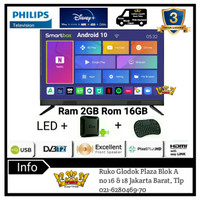 PHILIPS LED TV 40 inch Full Hd Smart Android Box Ram 2GB 40PFT5583