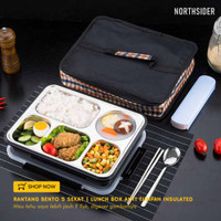 RANTANG BENTO 5 SEKAT | LUNCH BOX WITH SILICONE SEAL COVER