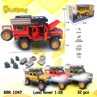 PROMO BBR1047 Land Rover Double Cabin Mainan Mobil Diecast Miniatur - Merah