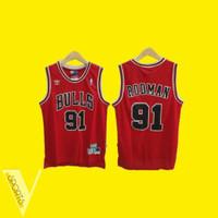 JERSEY BASKET NBA DENNIS RODMAN HWC CLASSIC CHICAGO BULLS MERAH
