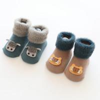 Kaos Kaki Bayi 1-2 Tahun 1 Set(Isi 2 Pasang) Limited Stock - Biru dan Coklat