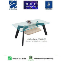 Coffee Table CT VIOLET Siantano / Meja Tamu Kaca Minimalis / Meja Kopi