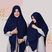 Jilbab Instan Syari Namira Pet Antem Tipis Diamond Crepe/Khimar Syari
