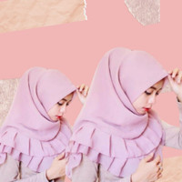 Jilbab Segiempat Rempel Polos / Jilbab Square Rempel Polos Sifon Fine