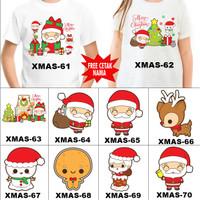 Kaos / Baju NATAL ANAK CHRISTMAS BANYAK MOTIF (FREE NAMA) 51-100