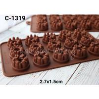 C-1319 Cetakan Silikon coklat fondant pudding mini cake chiffon fruit