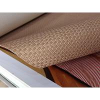 Wallpaper Vinyl Polos Bertekstur Goni Coklat Vintage Emboss Premium