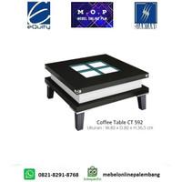Coffee Table CT 592 Siantano / Meja Tamu Kaca Minimalis / Meja Kopi