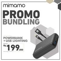 MIMAMO Power bank 10000mAh + Cable Data USB Lightning Fast Charging