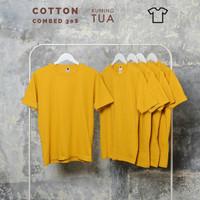 Kaos polos pria, wanita size normal big size jumbo size Kuning Tua