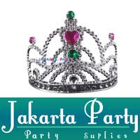 Mahkota Tiara Silver Kecil / Mahkota Pesta / Mahkota Ultah / Crown
