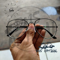 kacamata lensa minus silinder photocromic model BL AVIATOR pria wanita