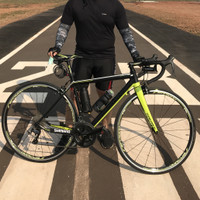 Sepeda Balap Roadbike Dorcus Team Race 3 SL Matte Black Green 48 S